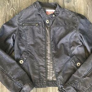 Missimo blue corduroy moto-style jacket